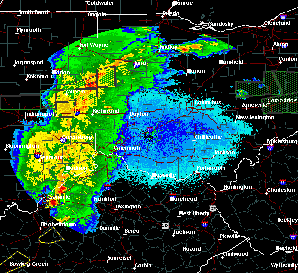 Radar Image for Severe Thunderstorms near Lawrenceburg, IN at 3/28/2020 11:26 PM EDT