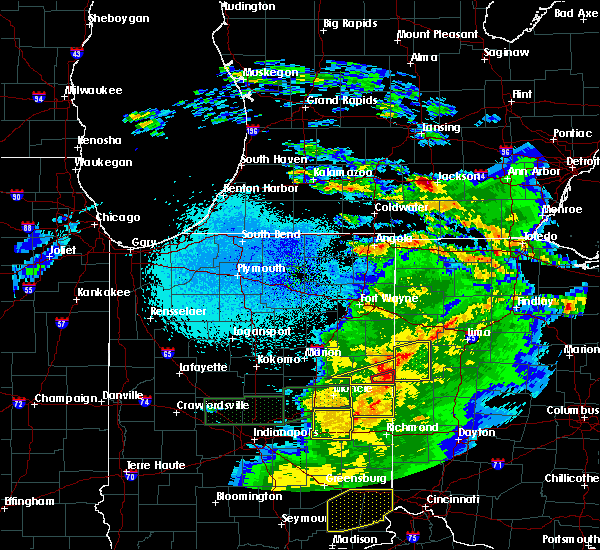 Radar Image for Severe Thunderstorms near Chickasaw, OH at 3/28/2020 11:28 PM EDT