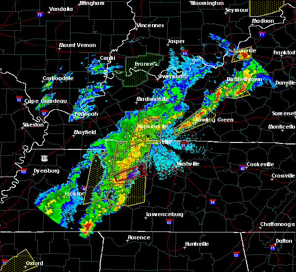 Radar Image for Severe Thunderstorms near Clarksville, TN at 3/28/2020 10:31 PM CDT