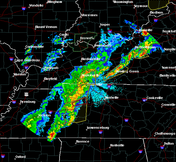 Radar Image for Severe Thunderstorms near Clarksville, TN at 3/28/2020 10:37 PM CDT