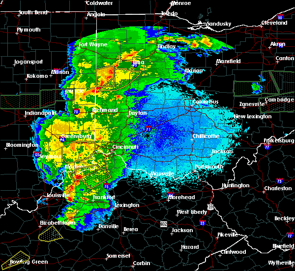 Radar Image for Severe Thunderstorms near Chickasaw, OH at 3/28/2020 11:43 PM EDT