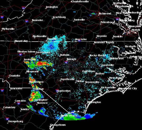 Radar Image for Severe Thunderstorms near Staley, NC at 6/25/2015 4:38 AM EDT