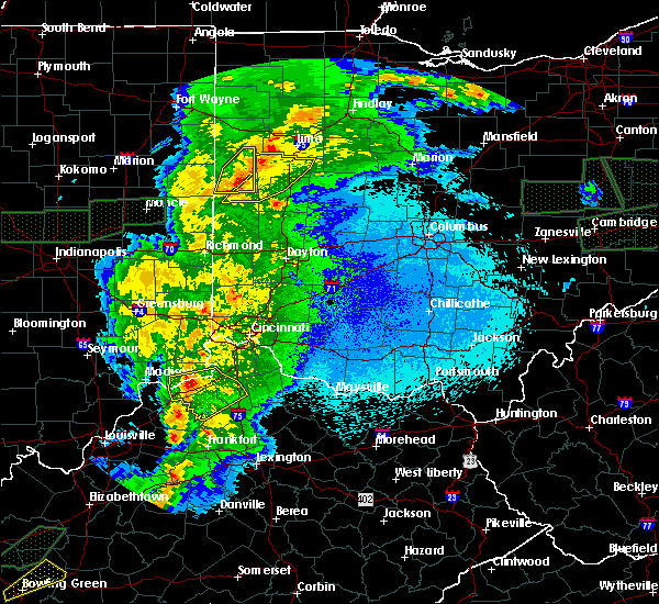Radar Image for Severe Thunderstorms near Chickasaw, OH at 3/28/2020 11:53 PM EDT