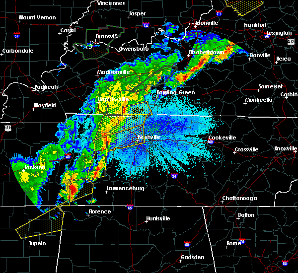 Radar Image for Severe Thunderstorms near Adairville, KY at 3/28/2020 10:57 PM CDT