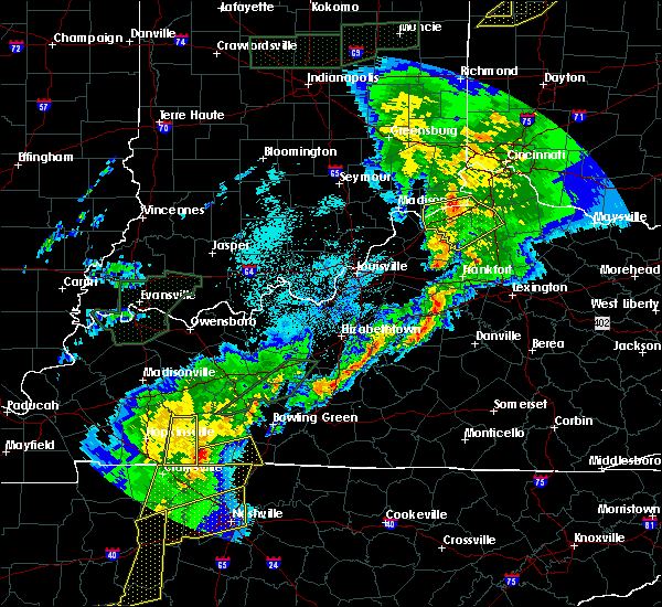 Radar Image for Severe Thunderstorms near Dry Ridge, KY at 3/28/2020 11:58 PM EDT