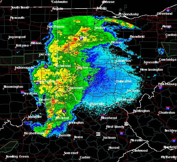 Radar Image for Severe Thunderstorms near Chickasaw, OH at 3/28/2020 11:58 PM EDT