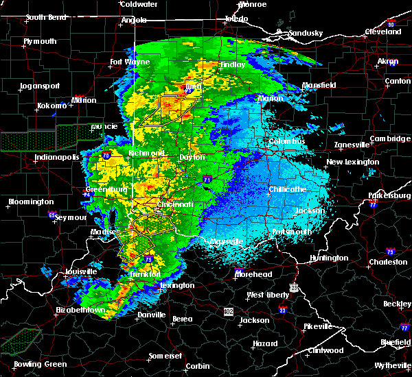 Radar Image for Severe Thunderstorms near Anna, OH at 3/29/2020 12:08 AM EDT
