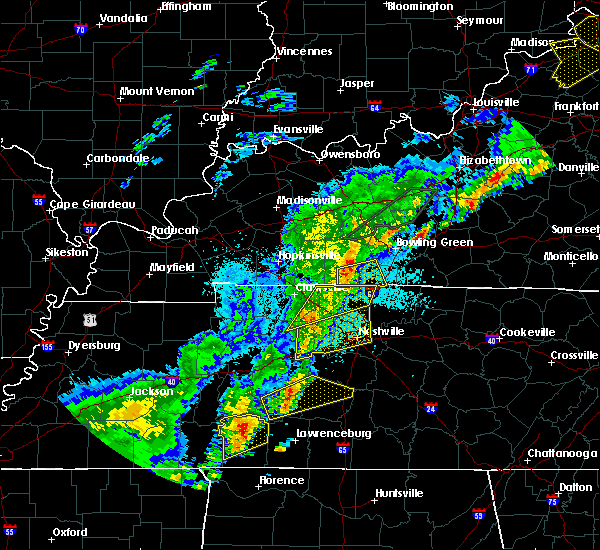 Radar Image for Severe Thunderstorms near Coopertown, TN at 3/28/2020 11:11 PM CDT
