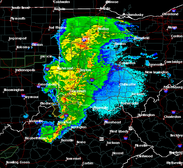 Radar Image for Severe Thunderstorms near California, KY at 3/29/2020 12:16 AM EDT