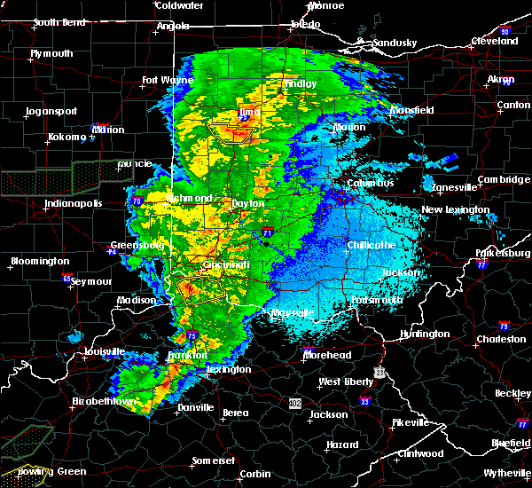 Radar Image for Severe Thunderstorms near Uniopolis, OH at 3/29/2020 12:24 AM EDT