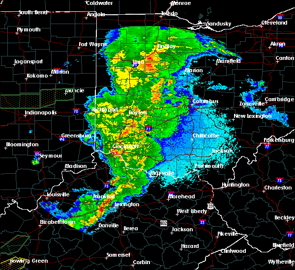 Radar Image for Severe Thunderstorms near Patterson, OH at 3/29/2020 12:34 AM EDT