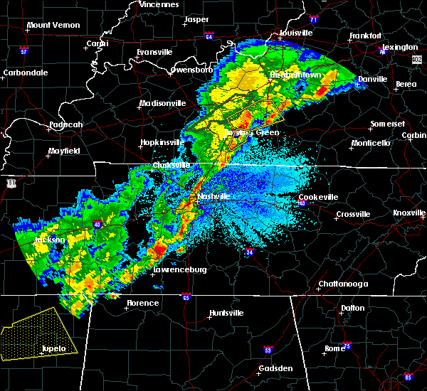Radar Image for Severe Thunderstorms near Spring Hill, TN at 3/29/2020 12:00 AM CDT