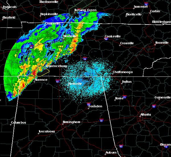 Radar Image for Severe Thunderstorms near Lawrenceburg, TN at 3/29/2020 12:29 AM CDT