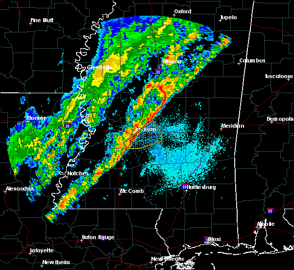 Radar Image for Severe Thunderstorms near Flowood, MS at 3/29/2020 12:40 AM CDT