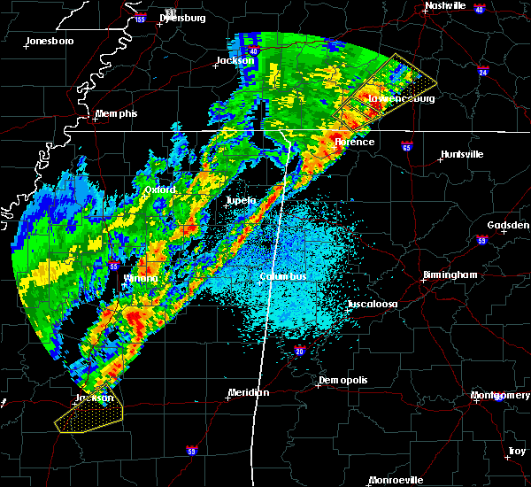 Radar Image for Severe Thunderstorms near Lexington, AL at 3/29/2020 12:48 AM CDT