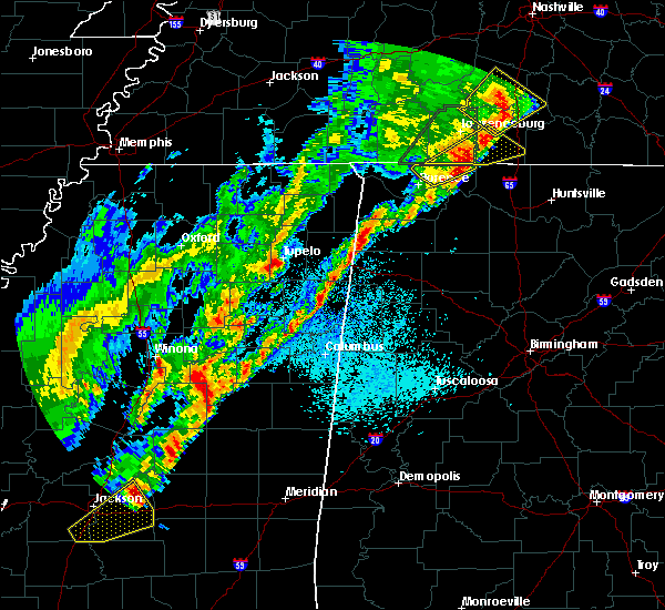 Radar Image for Severe Thunderstorms near Littleville, AL at 3/29/2020 1:05 AM CDT