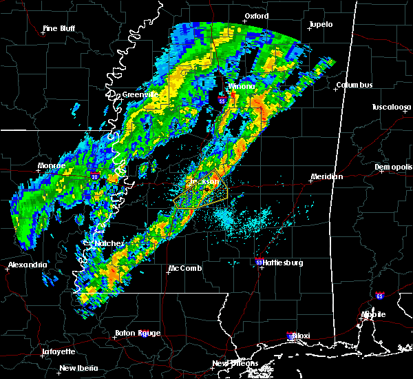 Radar Image for Severe Thunderstorms near Flowood, MS at 3/29/2020 1:05 AM CDT