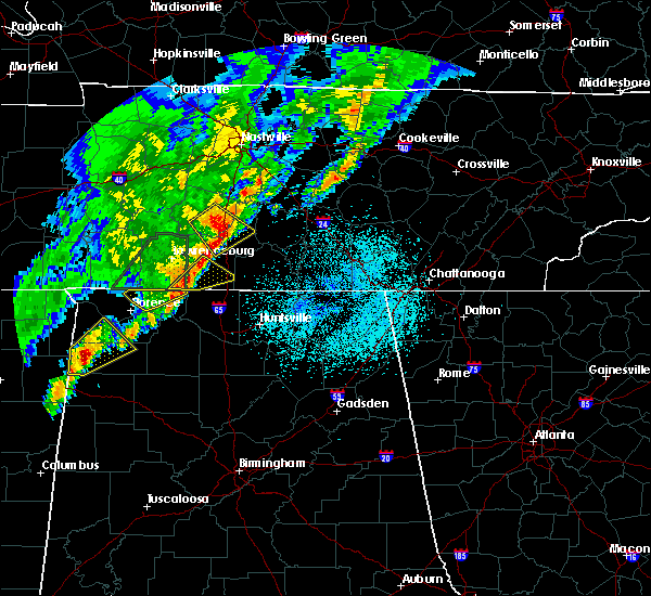 Radar Image for Severe Thunderstorms near Lexington, AL at 3/29/2020 1:11 AM CDT