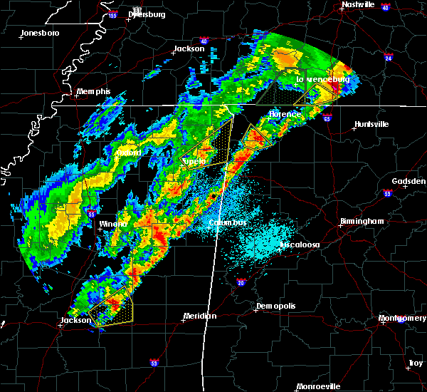 Radar Image for Severe Thunderstorms near Littleville, AL at 3/29/2020 1:28 AM CDT