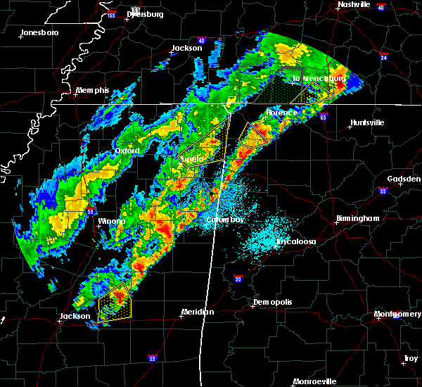 Radar Image for Severe Thunderstorms near Noxapater, MS at 3/29/2020 1:33 AM CDT