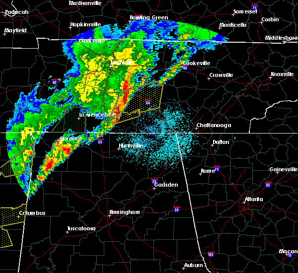 Radar Image for Severe Thunderstorms near Tullahoma, TN at 3/29/2020 1:36 AM CDT