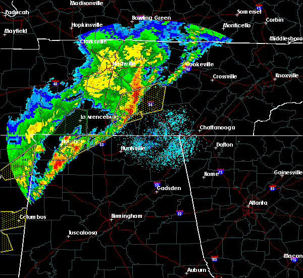 Radar Image for Severe Thunderstorms near Tullahoma, TN at 3/29/2020 1:49 AM CDT