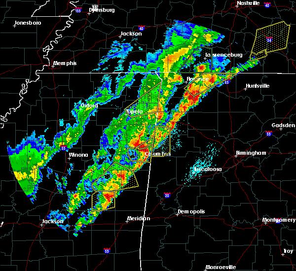Radar Image for Severe Thunderstorms near Detroit, AL at 3/29/2020 2:01 AM CDT