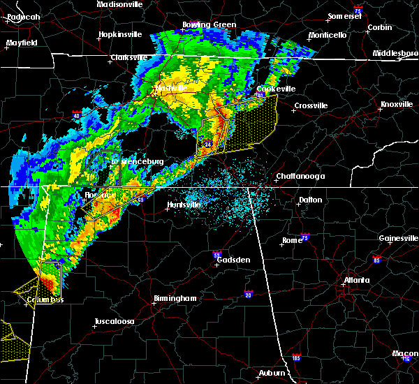 Radar Image for Severe Thunderstorms near Lexington, AL at 3/29/2020 2:10 AM CDT