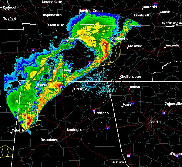 Radar Image for Severe Thunderstorms near Huntsville, AL at 3/29/2020 2:23 AM CDT