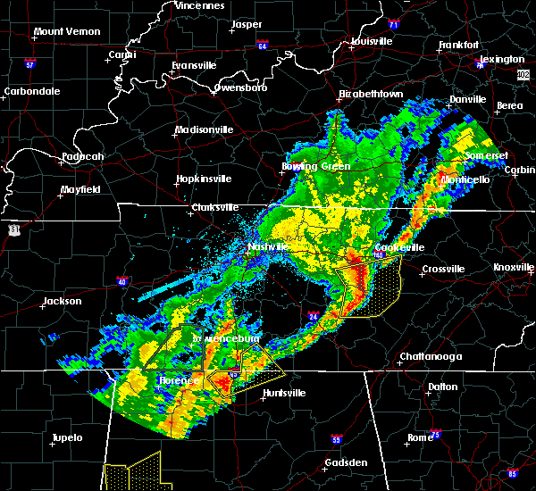 Radar Image for Severe Thunderstorms near Cookeville, TN at 3/29/2020 2:23 AM CDT