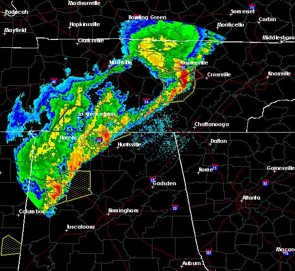 Radar Image for Severe Thunderstorms near Huntsville, AL at 3/29/2020 2:34 AM CDT