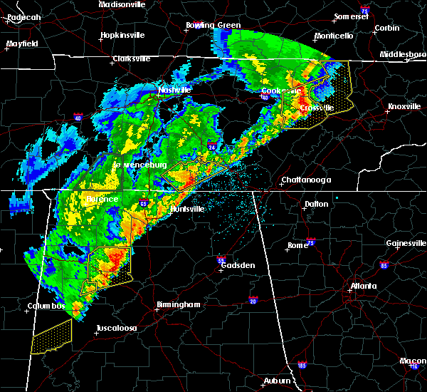 Radar Image for Severe Thunderstorms near Guntersville, AL at 3/29/2020 2:55 AM CDT