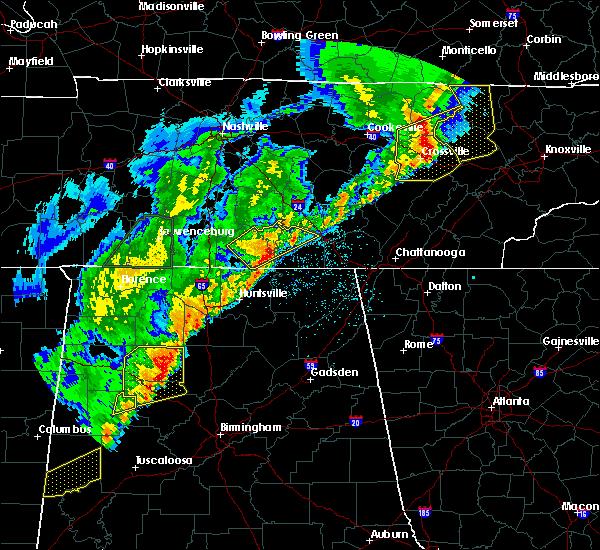 Radar Image for Severe Thunderstorms near Huntsville, AL at 3/29/2020 2:55 AM CDT