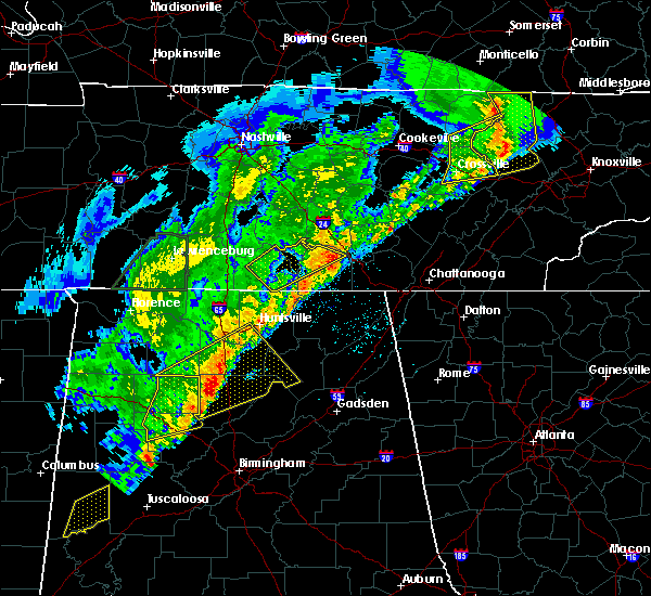 Radar Image for Severe Thunderstorms near Tullahoma, TN at 3/29/2020 3:09 AM CDT