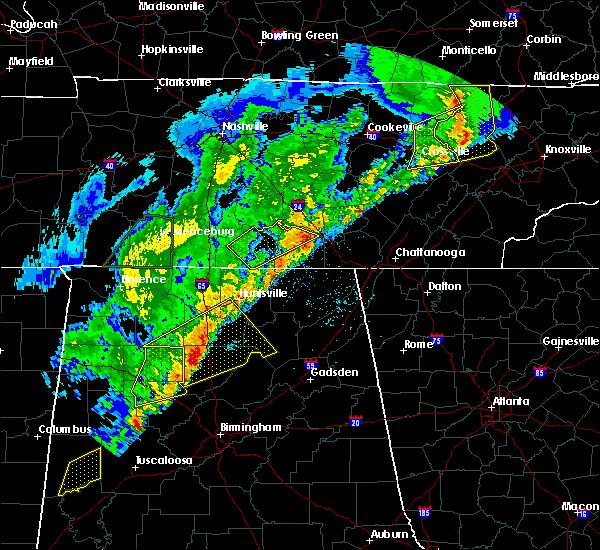 Radar Image for Severe Thunderstorms near Hillsboro, TN at 3/29/2020 3:13 AM CDT