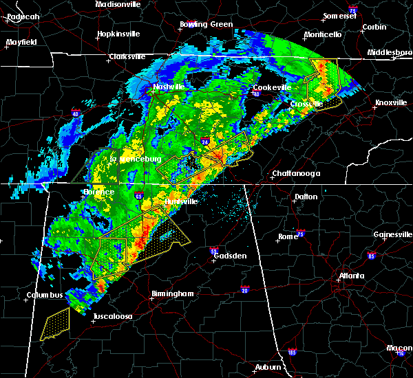 Radar Image for Severe Thunderstorms near Guntersville, AL at 3/29/2020 3:17 AM CDT