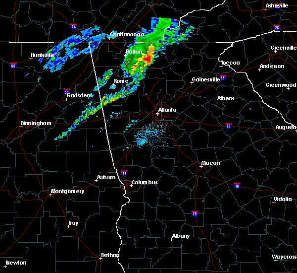 Radar Image for Severe Thunderstorms near Morganton, GA at 3/29/2020 7:15 AM EDT
