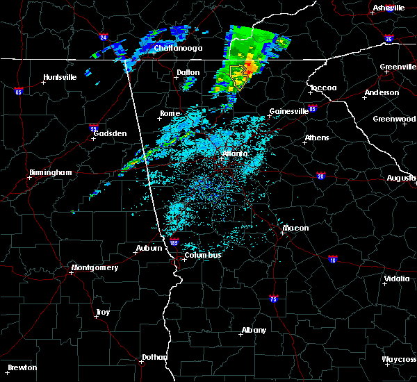 Radar Image for Severe Thunderstorms near Morganton, GA at 3/29/2020 7:42 AM EDT