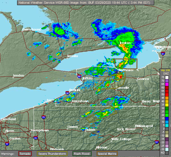 Radar Image for Severe Thunderstorms near Perry, NY at 3/29/2020 3:50 PM EDT
