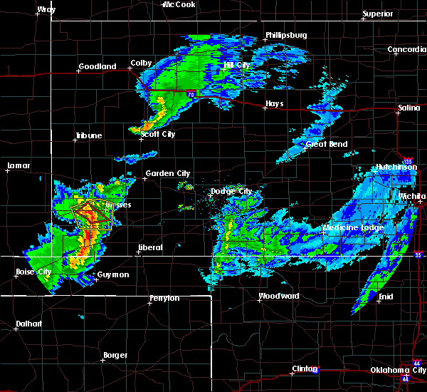 Radar Image for Severe Thunderstorms near Ulysses, KS at 3/30/2020 4:51 PM CDT