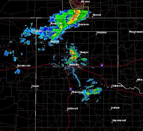 Radar Image for Severe Thunderstorms near Hooker, OK at 3/30/2020 4:59 PM CDT