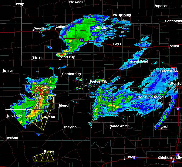 Radar Image for Severe Thunderstorms near Ulysses, KS at 3/30/2020 5:03 PM CDT