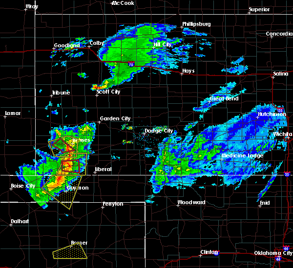 Radar Image for Severe Thunderstorms near Ulysses, KS at 3/30/2020 5:13 PM CDT