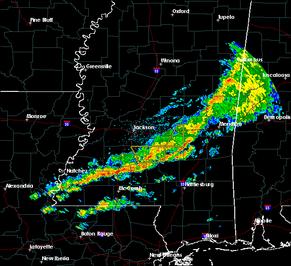 Radar Image for Severe Thunderstorms near Bay Springs, MS at 3/31/2020 6:29 AM CDT