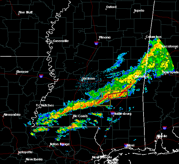 Radar Image for Severe Thunderstorms near Bay Springs, MS at 3/31/2020 6:54 AM CDT