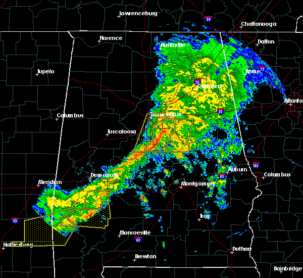 Radar Image for Severe Thunderstorms near Vincent, AL at 3/31/2020 8:21 AM CDT