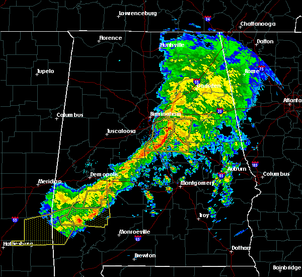 Radar Image for Severe Thunderstorms near Vincent, AL at 3/31/2020 8:28 AM CDT
