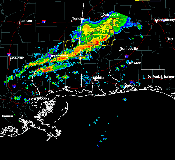 Radar Image for Severe Thunderstorms near State Line, MS at 3/31/2020 8:32 AM CDT