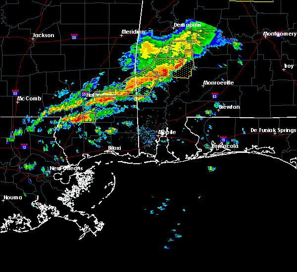 Radar Image for Severe Thunderstorms near Yellow Bluff, AL at 3/31/2020 8:34 AM CDT