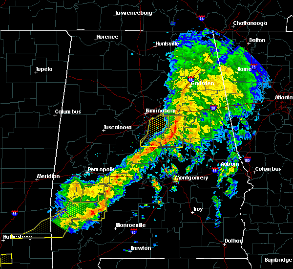 Radar Image for Severe Thunderstorms near Vincent, AL at 3/31/2020 8:41 AM CDT